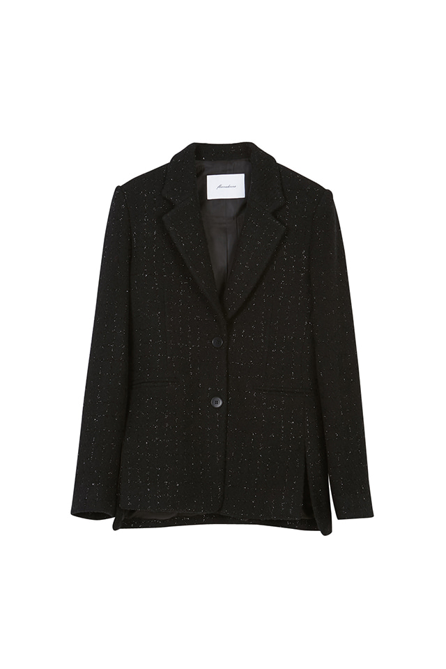 WOOL BLEND TWEED BLAZER