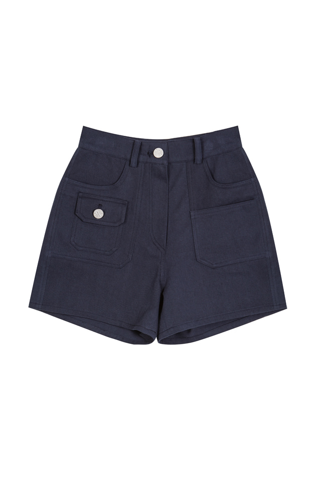WASHED COTTON SHORTS (2COLOR)