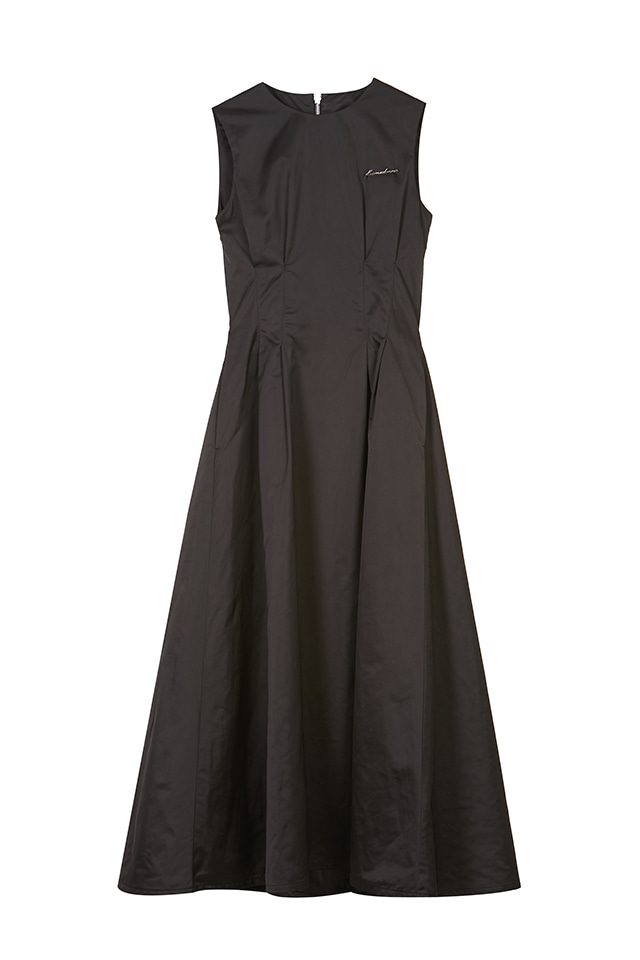 19FWBACK CROSSED MAXI DRESS