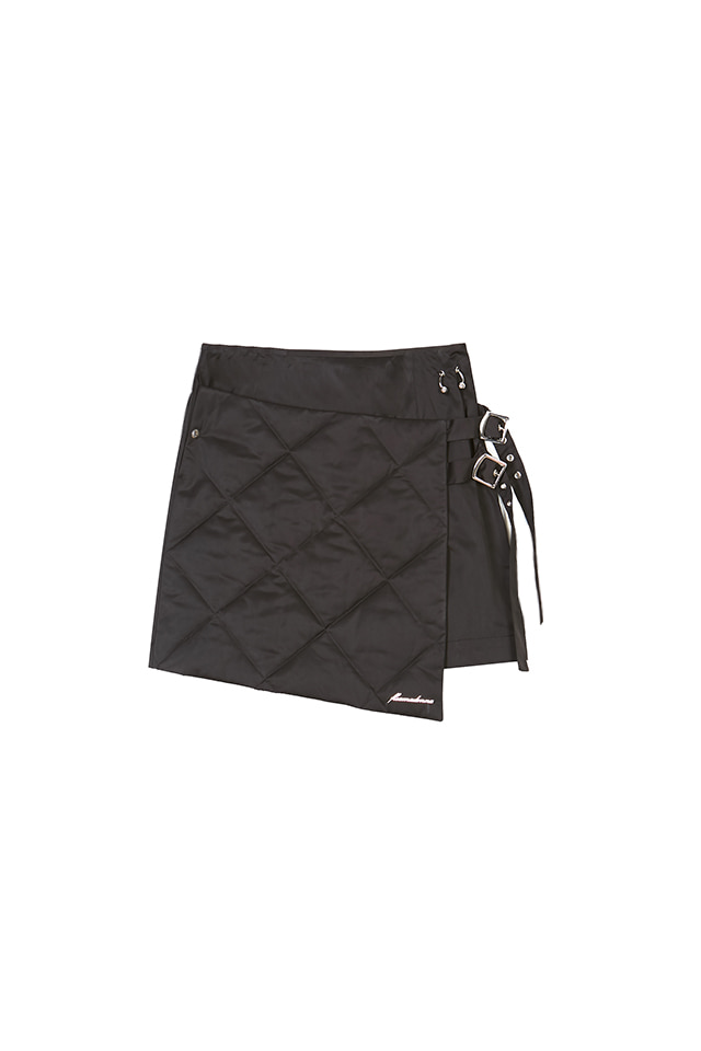 19FW PADDED WRAP MINI SKIRT