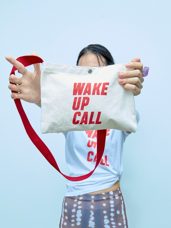(SALE 50%) WAKE UP CALL CANVAS BAG