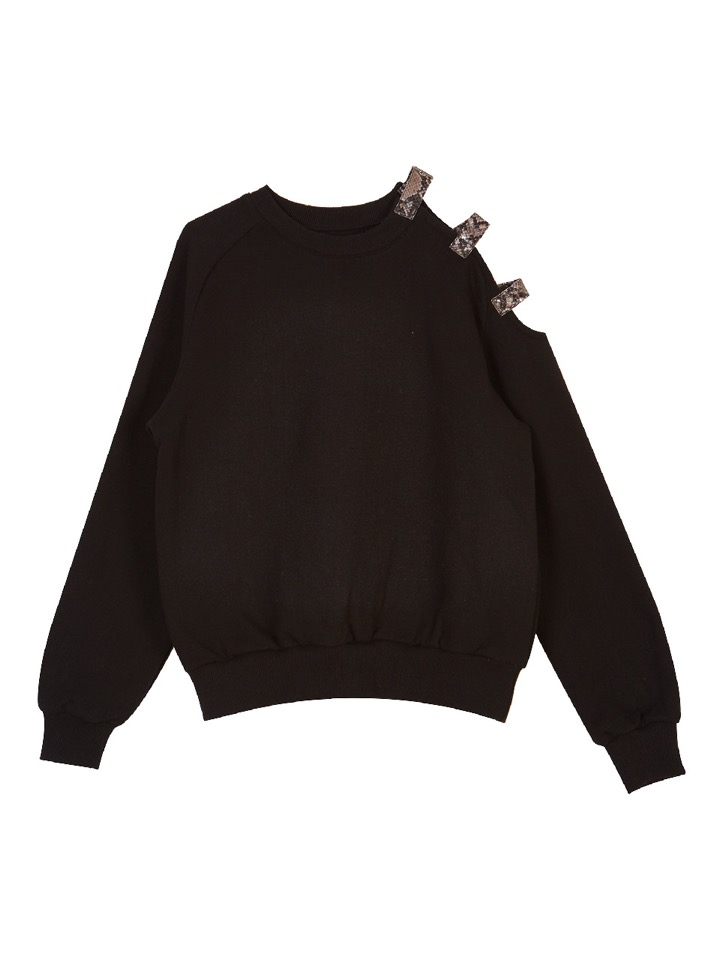 (SALE 60%) ONE SIDE OPEN SHOULDER SWEATSHIRT