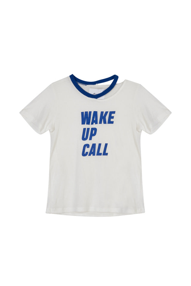 (SALE 70%) WAKE UP CALL PRINTED T-SHIRT(2COLOR)