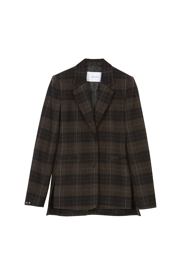 (SALE 60%) SINGLE BREASTED PLAID BLAZER