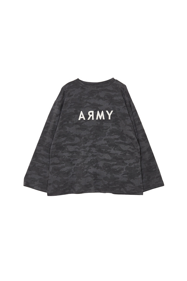 (SALE 70%) ARMY PRINTED LONG SLEEVE T-SHIRT(GREY)