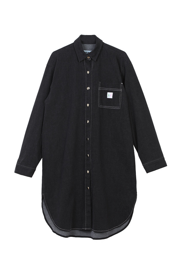(SALE 80%) MIF DENIM LONG SHIRT