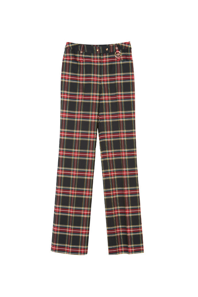 (SALE 60%) PLAID STRAIGHT-LEG PANTS